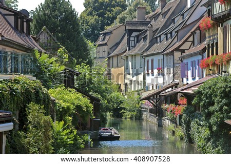 Colmar, Alsace, France. Little Venice area