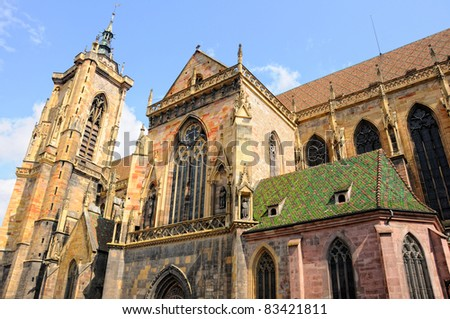 Colmar, Alsace, France, the Saint Martin's Cathedral