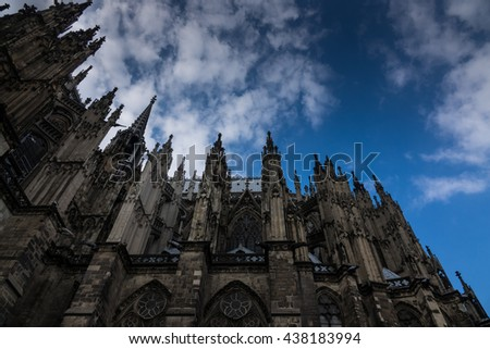 Cologne Cathedral against the sky in Germany