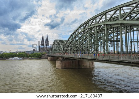 Cologne Cathedral and skyline, Germany