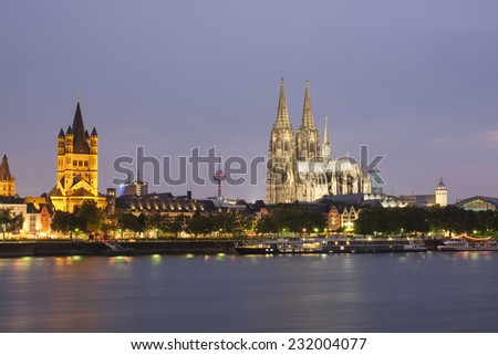 Cologne Cathedral from across the Rhine River