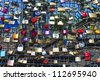 COLOGNE, GERMANY - MAY 11: lockers at the  Hohenzollern bridge symbolize love for ever on May 11,2011 in Cologne, Germany. 40000 lockers of loving couples are on that heavily used railway bridge. - stock photo