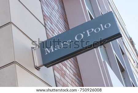 COLOGNE, GERMANY OCTOBER, 2017: Marc O'Polo store. Swedish in origin, since the 1990s, Marc O'Polo offers luxurious casualwear made with natural materials
