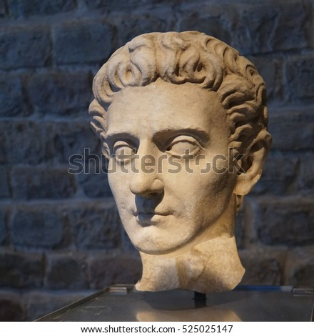 COLOGNE, GERMANY - SEP 15, 2016 - Bust of Roman Emperor Nerva,  Roman - Germanic Museum,  Cologne, Germany