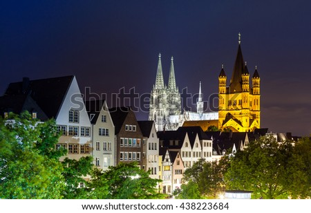Cologne old city at night