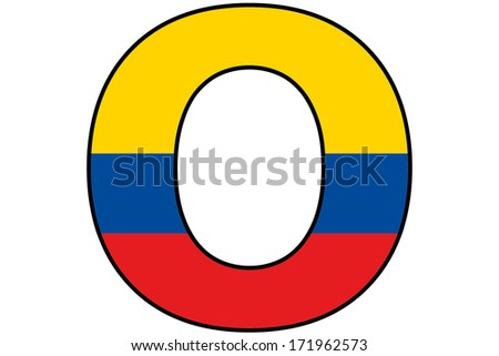 Colombia Alphabet Illustration - O