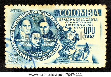 Colombia Stamp Stock Images Royalty Free Images Amp Vectors