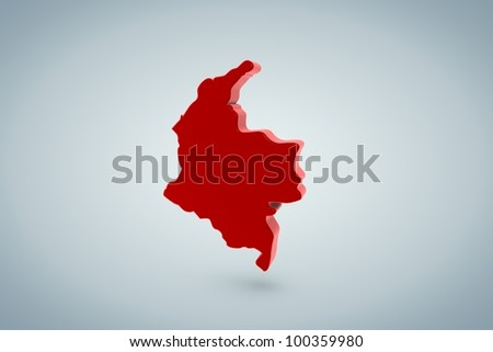 Colombia Map - stock photo