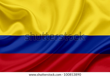 Colombia waving flag - stock photo