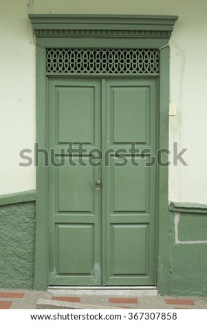 Colombian colonial house - stock photo