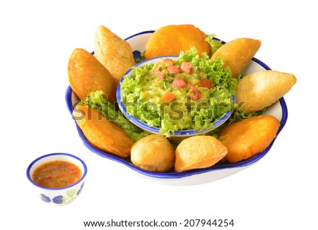 Colombian cuisine. Empanadas. - stock photo