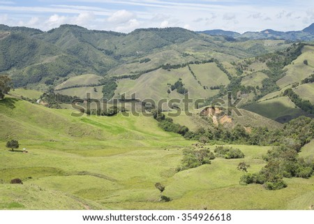 Colombian mountainous landscape - stock photo