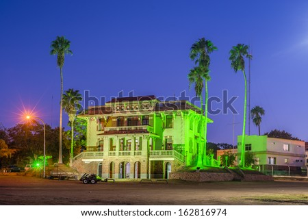 Colon City hall a city in the province of Entre Rios, Argentina, located in the east of the province, on the western shore of the Uruguay River. - stock photo