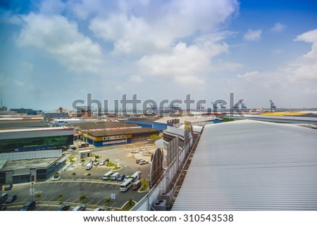 COLON, PANAMA - APRIL 15, 2015: The Colon Free Trade Zone is a large entity near the Atlantic entrance to the Panama Canal