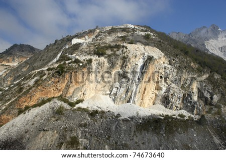 Colonata (Carrara), Italy,  the famous marble quarries