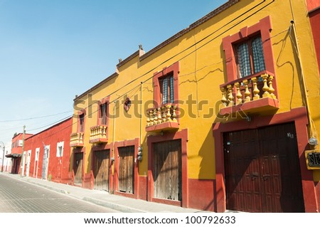 Colonial Architecture In Cholula Puebla Mexico