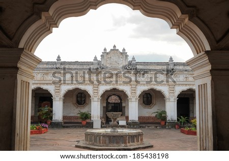 Colonial art museum of Antigua on Guatemala - stock photo