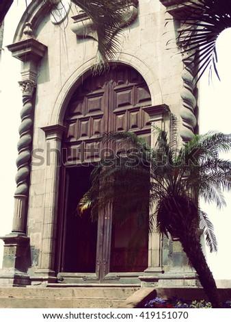 Colonial Church Santa Cruz Tenerife Spain - stock photo