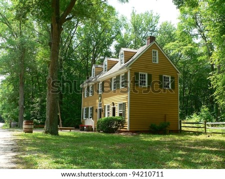 Colonial era building at Cold Spring Village, NJ, USA. - stock photo