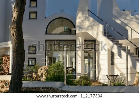 colonial house - stock photo