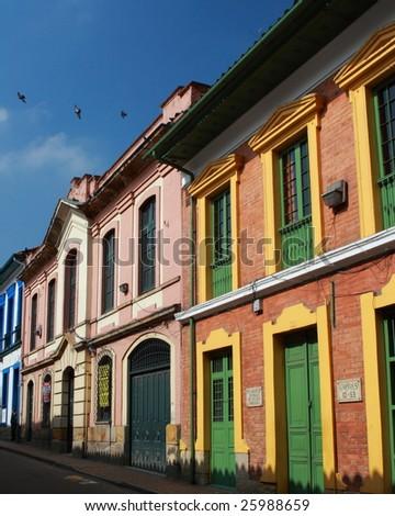 Colonial house in La Candelaria, Bogota, Colombia - stock photo