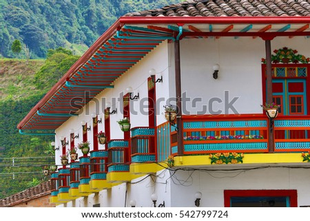 colonial style building in Jardin Colombia