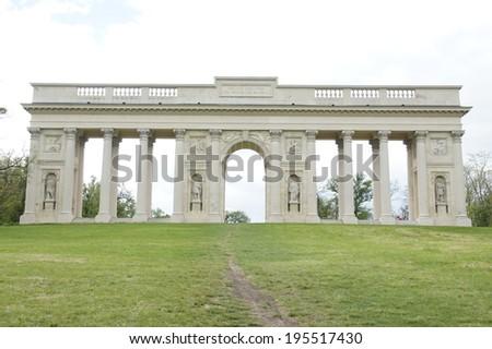 Colonnade called Reistna,Lednice,Valtice, Moravia, Czech republic - stock photo