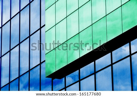Color abstract background, building exterior - stock photo