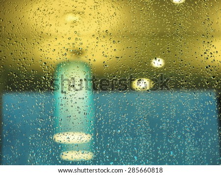 Color Abstract Blurred backgrounds, drop of water on glass. - stock photo