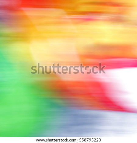 Color abstraction on a long exposure to blur effect