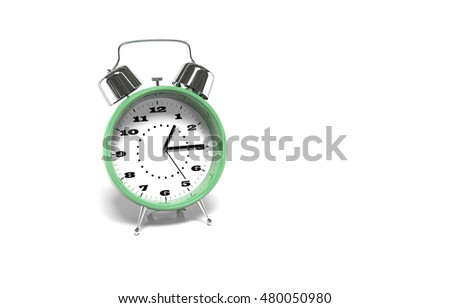 color alarm clock, 3d render