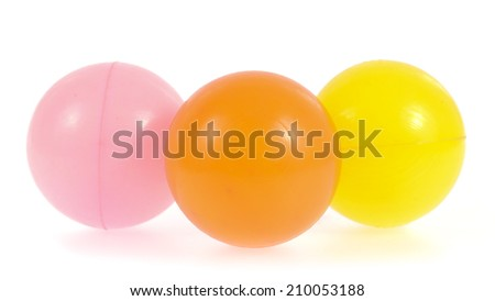Color ball isolated on white background