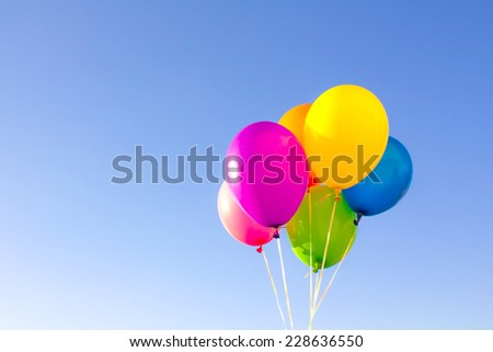 Color balloons background - stock photo