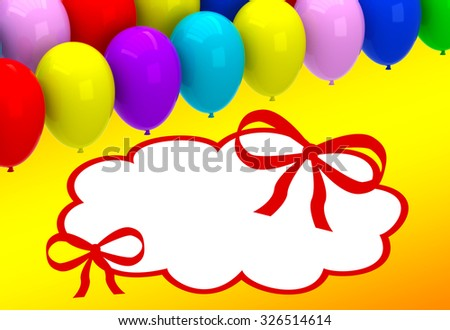 Color balloons background with place for text - stock photo