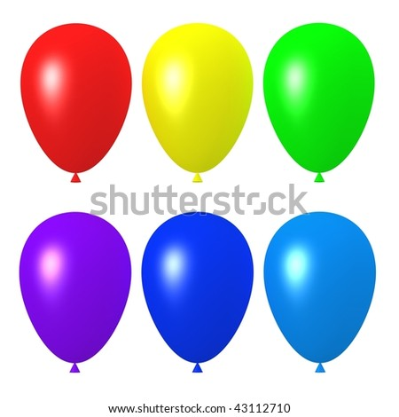 color balloons collection