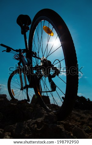color bike in sunny day - stock photo
