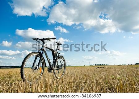 color bike in sunny day, bike series, - stock photo