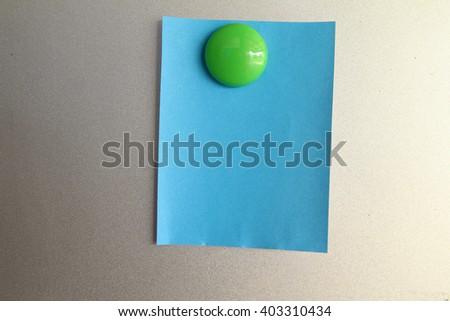 color blank sticky notes - stock photo