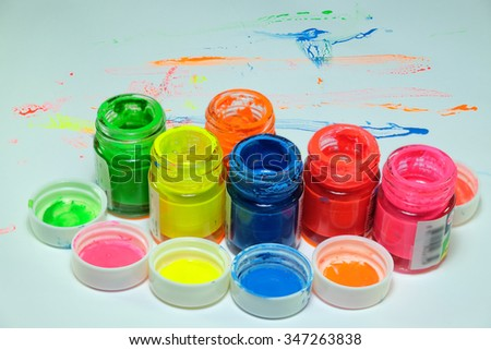 Color bottle is colorful.on white background.
