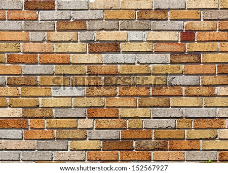 color brick wall pattern