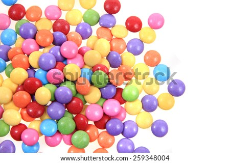 color candies background - stock photo