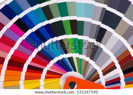 Color chart close-up - stock photo