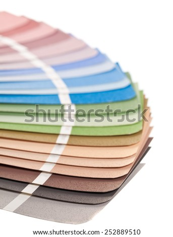 Color chart guide on white background - stock photo