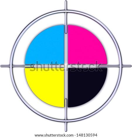 color circle - stock photo