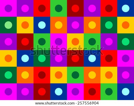 color circle inside square texture pattern background - stock photo