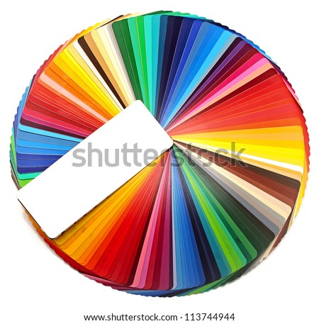 Color circle isolated on white - stock photo