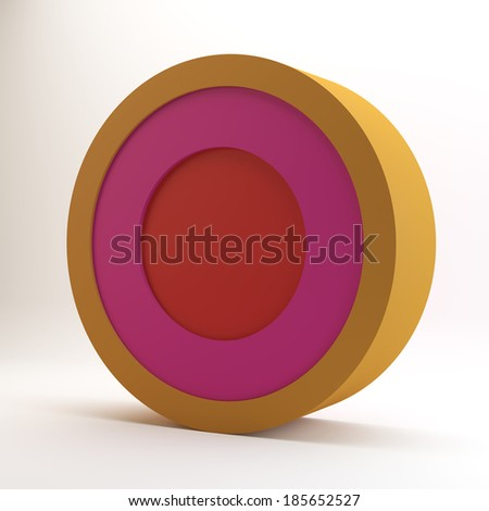 Color circle pie chart on white background