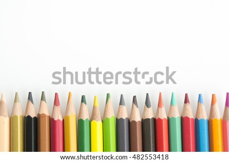 color colourful pencil background palette wood