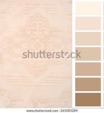 color complimentary chart card  - stock photo