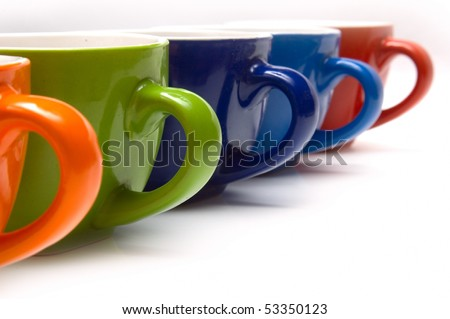 color cup - stock photo